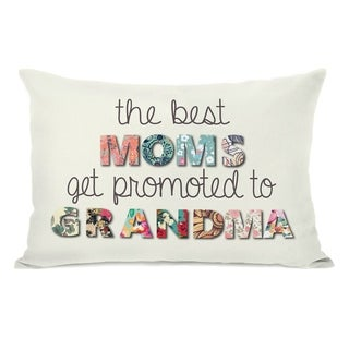 Best Moms Promoted Floral - Ivory Multi 14x20 Pillow by Pillow Talk