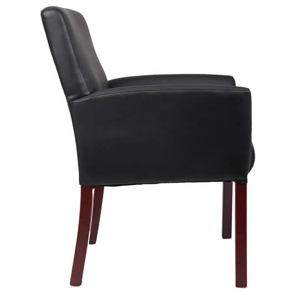 Remarkable Shop Porch Den Reedy Black Faux Leather Wood Reception Box Machost Co Dining Chair Design Ideas Machostcouk