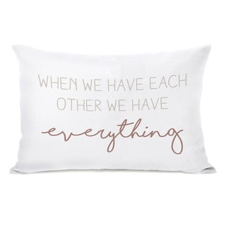 Have Each Other - Tan 14x20 Pillow by OBC