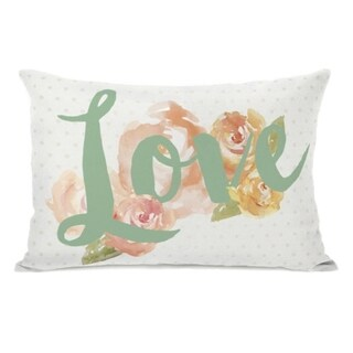 Peony Love - Multi 14x20 Pillow by OBC