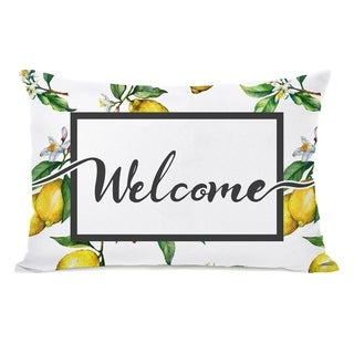 Welcome Lemon - Multi 14x20 Pillow by OBC