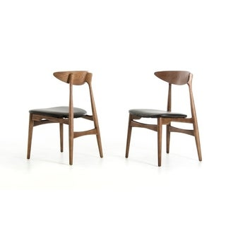 Modrest Anson Walnut and Black Dining Chair (Set of 2)