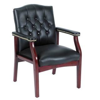 Boss Traditional Black Guest Chair