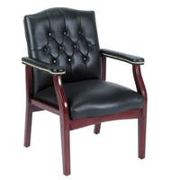 Boss Black Caressoft Traditional Guest Chair