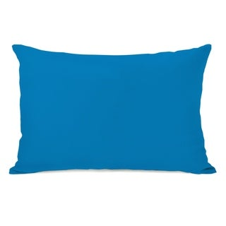 Solid - Bright Blue 14x20 Pillow by OBC
