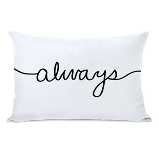 Always Mix & Match Reversible - Black White 14x20 Pillow by OBC