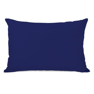 Solid - Whale Blue 14x20 Pillow by OBC