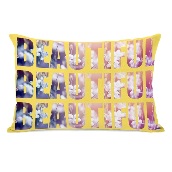 Beautiful Flowers - Yellow Multi 14x20 Pillow by OBC