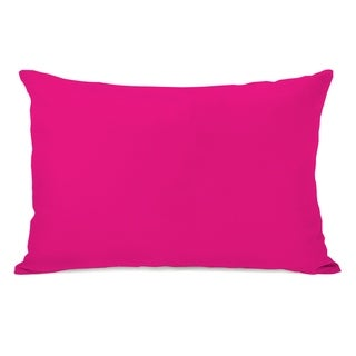 Solid - Hot Pink 14x20 Pillow by OBC