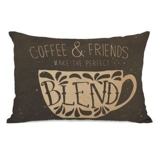 Coffee And Friends - Brown 14x20 Pillow by OBC