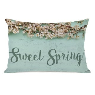 Sweet Spring - Blue 14x20 Pillow by OBC