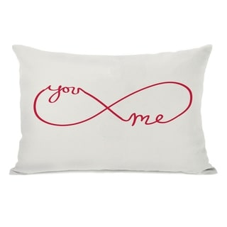 You Me Infinite - Red 14x20 Pillow by OBC