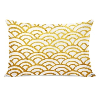 Scallop Gold - Gold 14x20 Pillow by OBC