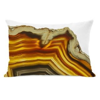 Geode Amber Gold - Yellow 14x20 Pillow by OBC