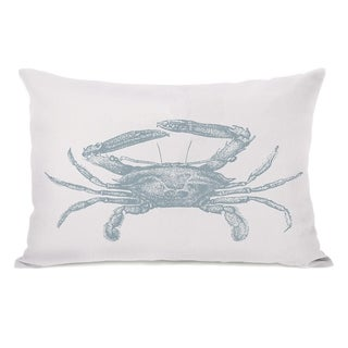 Natural Crab - Blue 14x20 Pillow by OBC