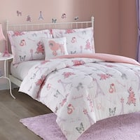 Paris Girl 4 piece Comforter Set