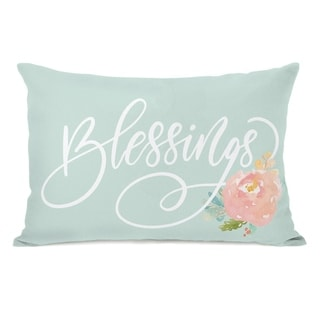 Blessings - Mint 14x20 Pillow by OBC