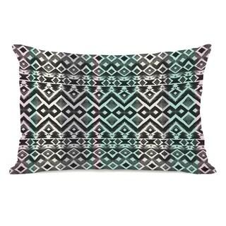 Split Colors - Black Teal 14x20 Pillow by OBC