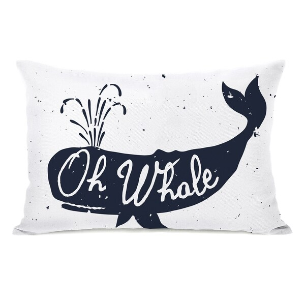 Oh Whale - White 14x20 Pillow by OBC