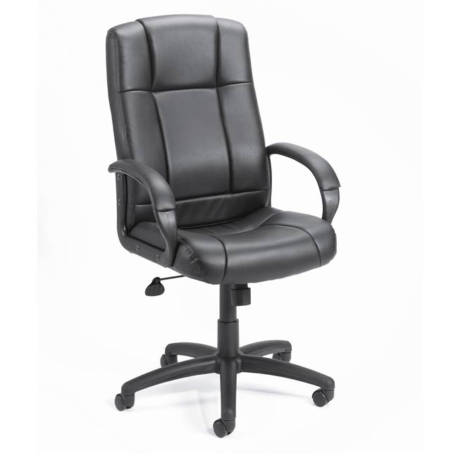 Black Vinyl High-back Executive Chair