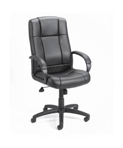 Black Vinyl High-back Executive Chair