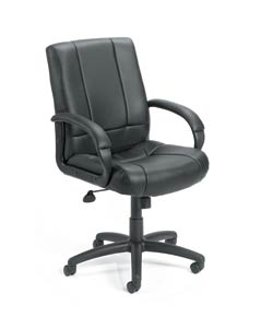 Black Vinyl Mid-back Executive Chair