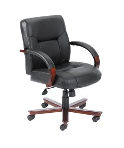 Boss Mid-back Italian Top Grain Leather Executive Chair