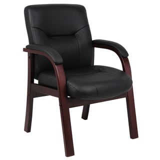 Boss Executive Italian Top Grain Leather Guest Chair