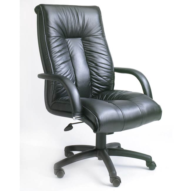 Boss Executive Italian Leather High Back Chair