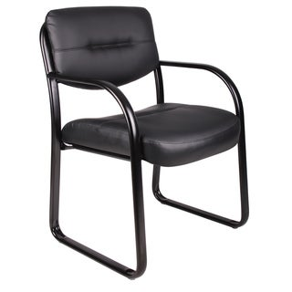 Boss Black Bonded Leather Reception Chair