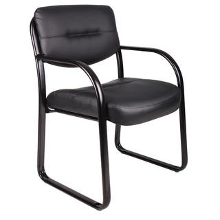 Boss Black Bonded Leather Reception Chair|https://ak1.ostkcdn.com/images/products/2201993/2201993/Boss-Black-Bonded-Leather-Reception-Chair-P10466648.jpg?impolicy=medium