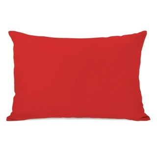 Solid - Rocket Red 14x20 Pillow by OBC
