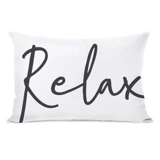 Relax - White 14x20 Pillow by OBC