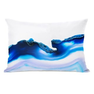 Deja Agate - Blue 14x20 Pillow by OBC