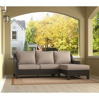 Serta Tahoe Terra Brown Wicker Outdoor Chaise Sectional