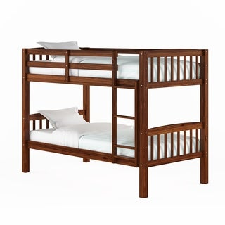 CorLiving Walnut Brown Twin/Single Bunk Bed