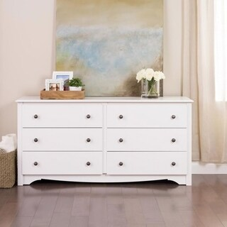 Laurel Creek Winslow White Wood 6-drawer Dresser