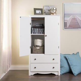 "Copper Grove Periyar White 2-drawer Armoire - 58.75""h x 31.5""w x 22""d"