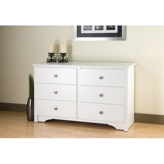 Winslow White Condo Sized 6-drawer Dresser