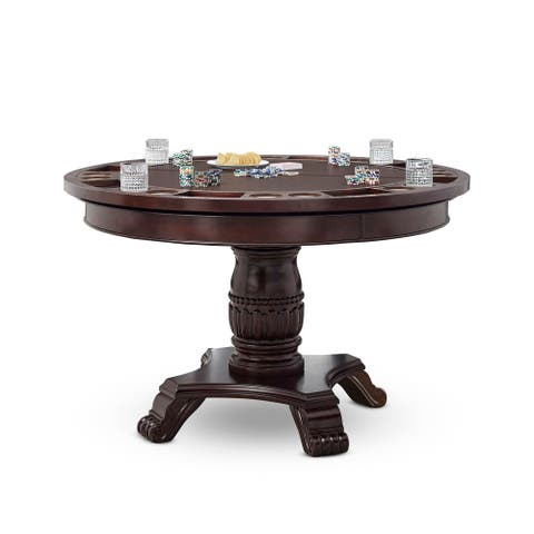 Gracewood Hollow Kimmerer Round Cherry Table with Removable Top