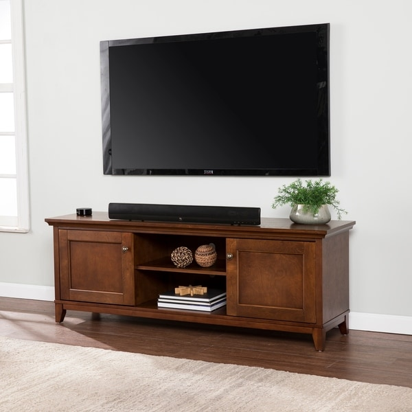 Shop Copper Grove Heliotrope Brown Tv Stand Overstock