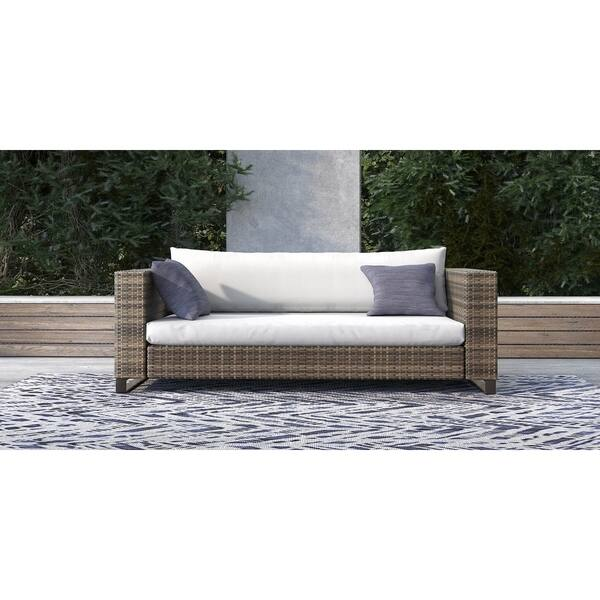 Fine Shop Tommy Hilfiger Oceanside Outdoor Loveseat Gray Wicker Pabps2019 Chair Design Images Pabps2019Com