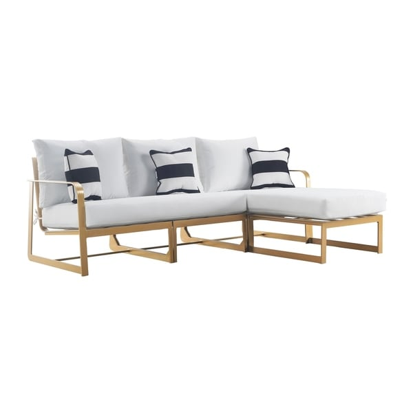 Elle Decor Mirabelle French Gold Outdoor Sectional