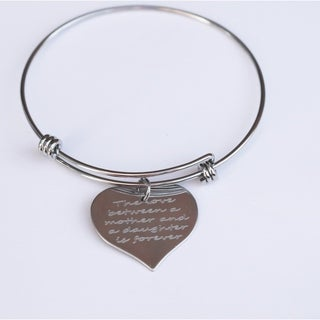 "Handmade ""The Love Between A Mother And A Daughter Is Forever"" Charm Bracelet (US)"