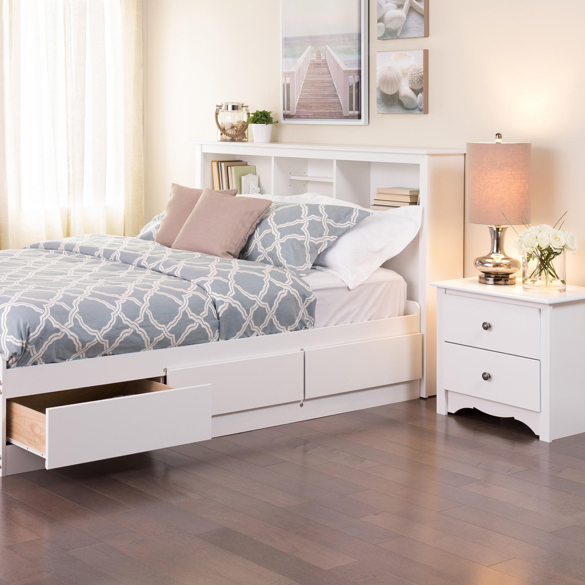 Copper Grove Periyar White Full Queen Bookcase Headboard