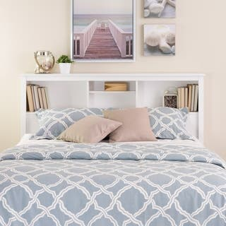Winslow White Full Queen Bookcase Headboard