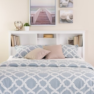 Winslow White Full/Queen Bookcase Headboard