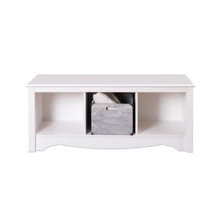 Winslow White Cubbie Storage Bench