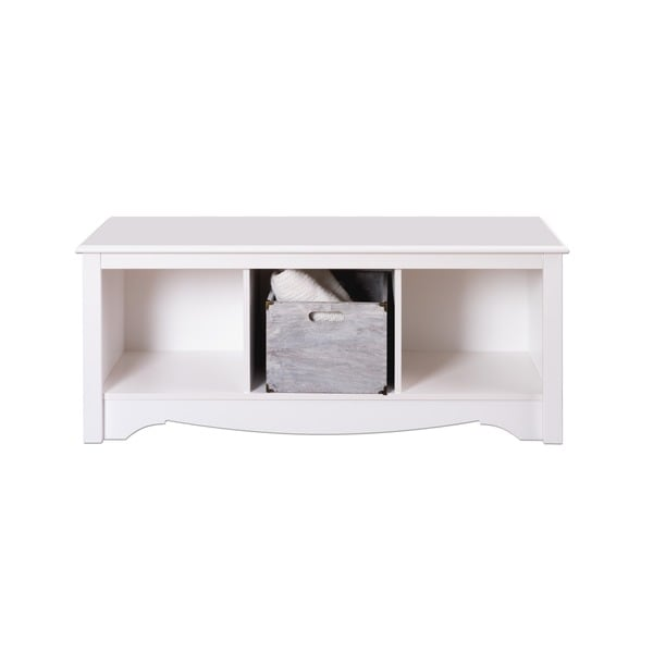 Winslow White Cubbie Storage Bench Free Shipping Today