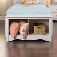 The Gray Barn Waggoner White Twin Cubbie Bench